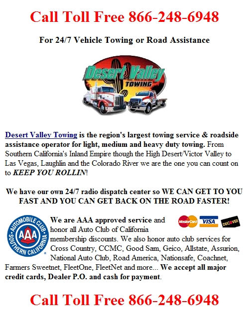 [ Pomona Freeway (Hwy 60) Towing Tow Truck Service ]