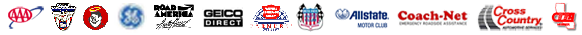 AAA, Auto Club, Good Sam, GEICO Direct, Farmers Motor Club, Allstate Motor Club, Road America, Coach-Net, GE Motor Club